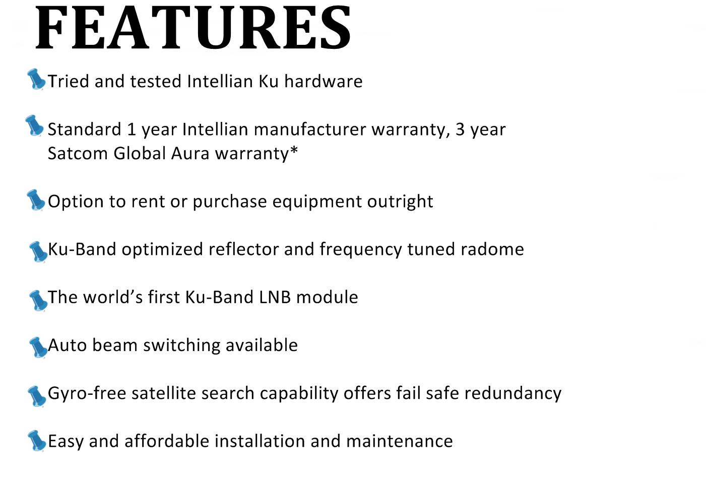 features intellianV100