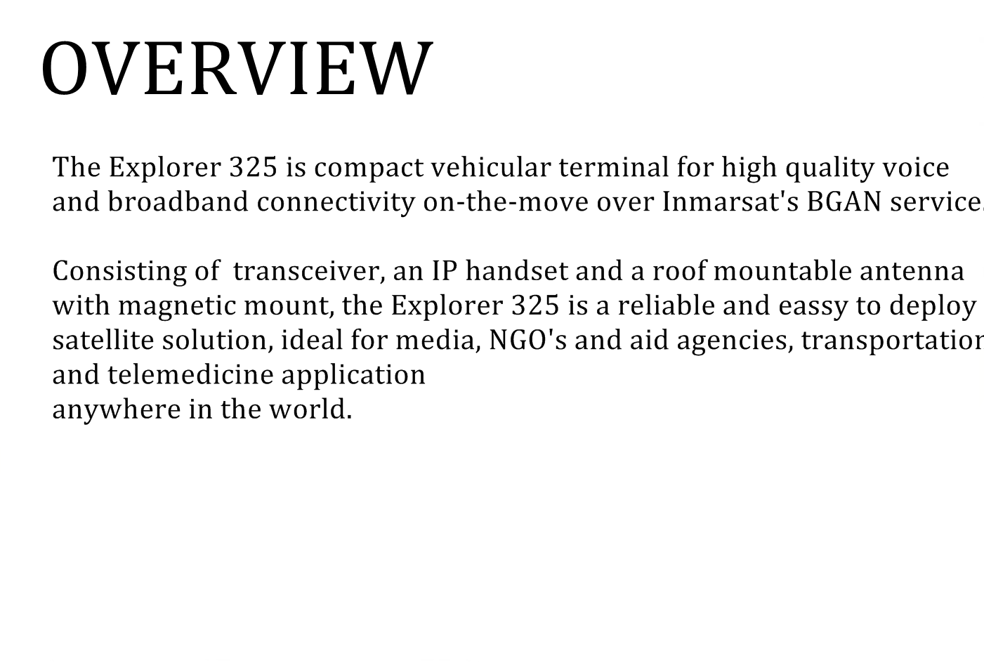 overview explorer325